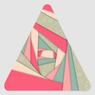 Colorful Layers Collage Triangle Sticker