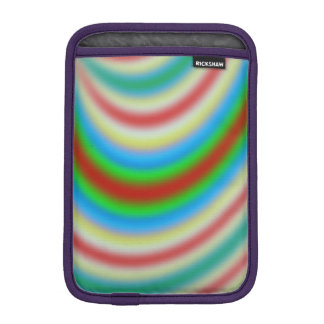 Colorful layers of lines pattern iPad mini sleeves