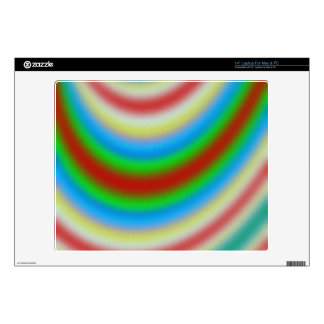 Colorful layers of lines pattern laptop skins