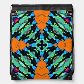 Colorful Layers Pattern Drawstring Bag