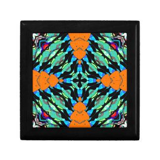 Colorful Layers Pattern Jewelry Box