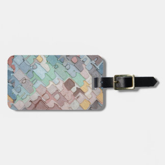 Colorful Layers Pattern Luggage Tag