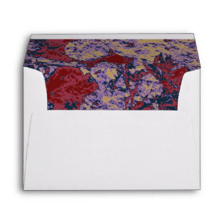 Colorful leaf and flower camouflage pattern envelope