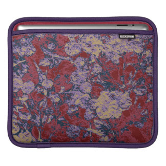 Colorful leaf and flower camouflage pattern iPad sleeve