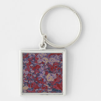 Colorful leaf and flower camouflage pattern keychain