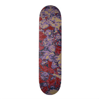Colorful leaf and flower camouflage pattern skateboard deck