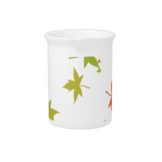 Colorful leaf design drink pitcher