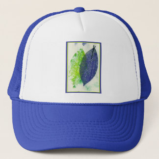 Colorful Leaf Imprints Trucker Hat