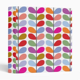 Colorful Leaf Pattern Binder