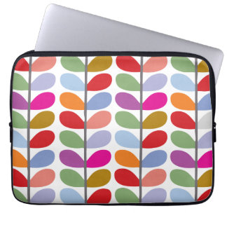 Colorful Leaf Pattern Laptop Computer Sleeve