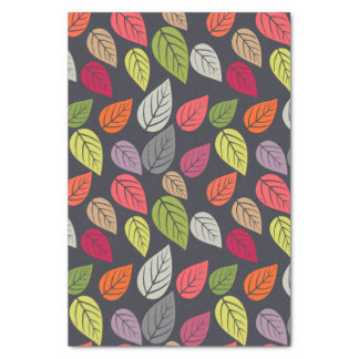Colorful Leaf Pattern Tissue Paper