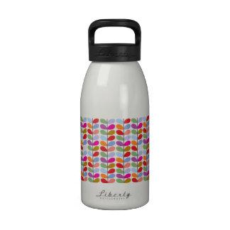 Colorful Leaf Pattern Water Bottle