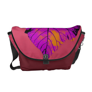 Colorful Leaf Retro Paint Abstract Art Deco 4 Messenger Bag