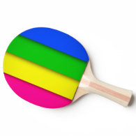 colorful leafage Ping-Pong paddle