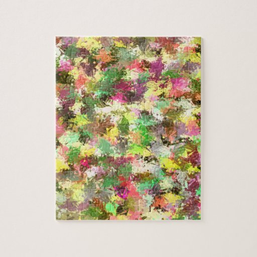 Colorful leafs of Fall in Abstract Puzzle
