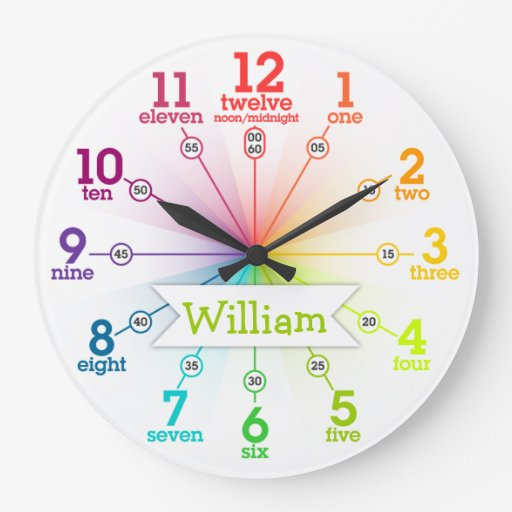 Colorful Learning Round Wallclock