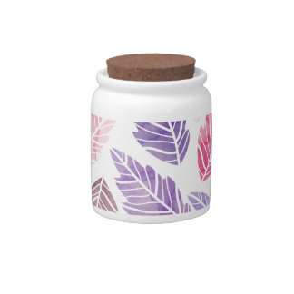Colorful leaves candy jar