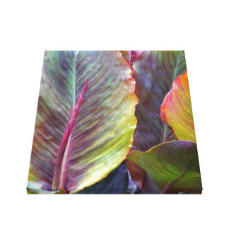 Colorful Leaves Floral Canvas Print