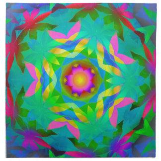Colorful Leaves Kaleidoscope Napkin