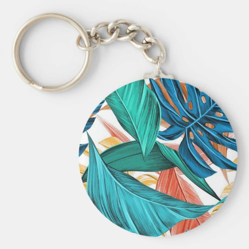 Colorful Leaves Keychain