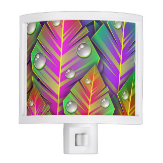 Colorful  leaves night light
