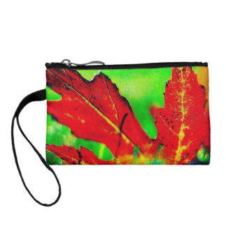 Colorful Leaves Of Fall Key Coin Clutch