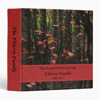 Colorful leaves of family history 3 ring binder