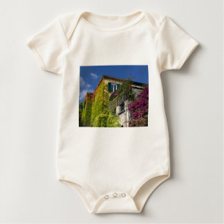 Colorful leaves on house baby bodysuit