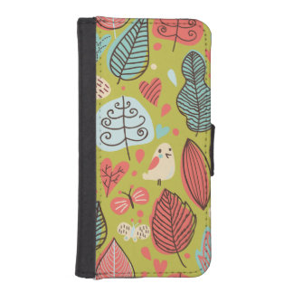 Colorful Leaves iPhone 5 Wallet Cases