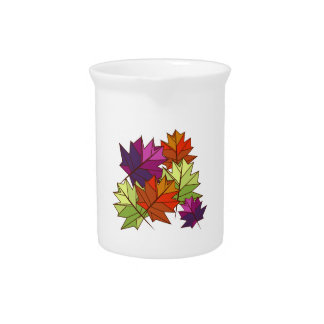Colorful Leaves Drink Pitchers