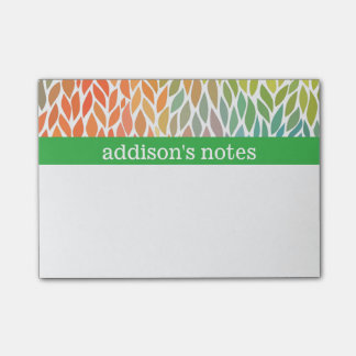 Colorful Leaves Post-it Notes