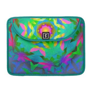 Colorful Leaves Rickshaw Flap Sleeve MacBook Pro Sleeves