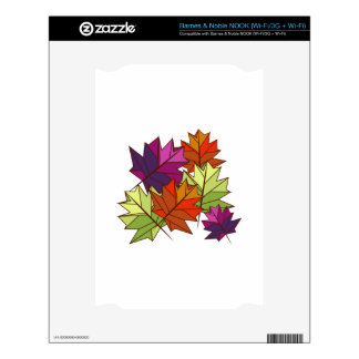 Colorful Leaves NOOK Decal