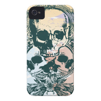 Colorful leaves skulls awesome blackberry bold Case-Mate iPhone 4 case