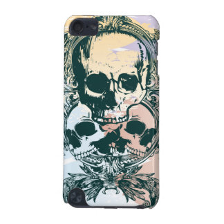 Colorful leaves skulls awesome ipod touch case