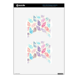 Colorful leaves xbox 360 controller skin