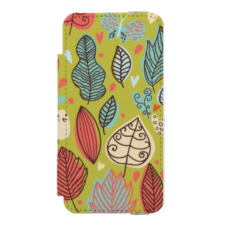 Colorful Leaves Incipio Watson™ iPhone 5 Wallet Case