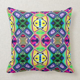 Colorful Lemon Lime Pattern Throw Pillow
