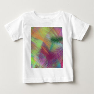 Colorful Lemon Yellow Pink Berry Burst Abstract Baby T-Shirt