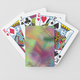 Colorful Lemon Yellow Pink Berry Burst Abstract Bicycle Playing Cards
