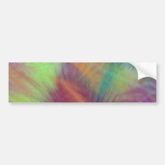 Colorful Lemon Yellow Pink Berry Burst Abstract Bumper Sticker