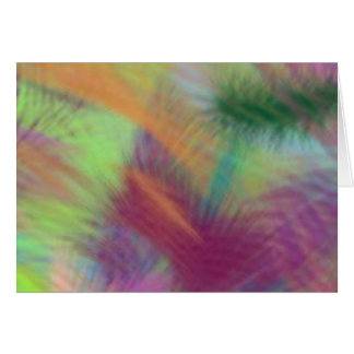 Colorful Lemon Yellow Pink Berry Burst Abstract Card