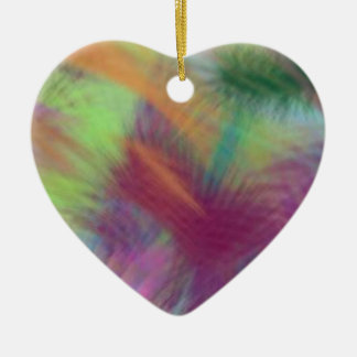 Colorful Lemon Yellow Pink Berry Burst Abstract Ceramic Ornament