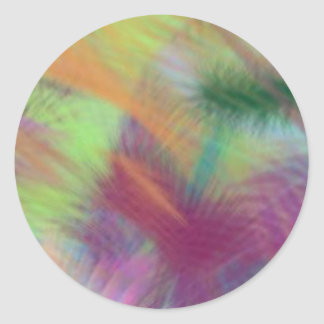 Colorful Lemon Yellow Pink Berry Burst Abstract Classic Round Sticker