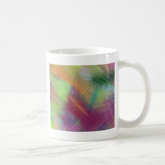 Colorful Lemon Yellow Pink Berry Burst Abstract Coffee Mug