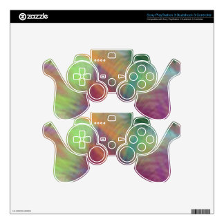 Colorful Lemon Yellow Pink Berry Burst Abstract Skin For PS3 Controller