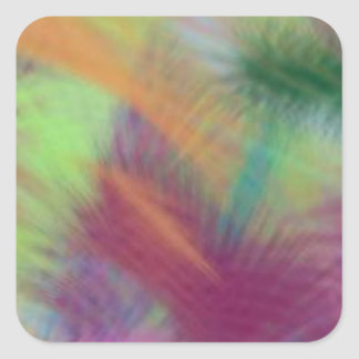 Colorful Lemon Yellow Pink Berry Burst Abstract Square Sticker