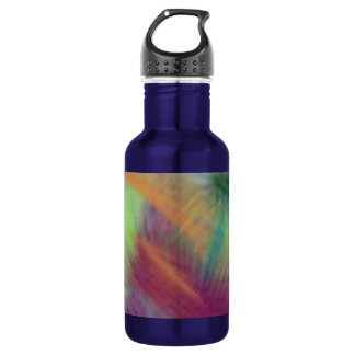Colorful Lemon Yellow Pink Berry Burst Abstract Stainless Steel Water Bottle