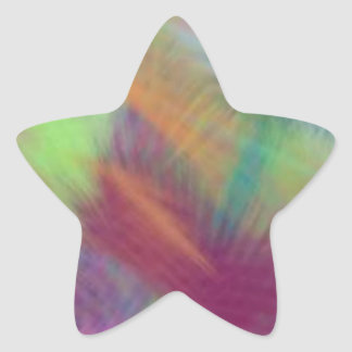 Colorful Lemon Yellow Pink Berry Burst Abstract Star Sticker