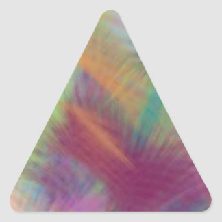 Colorful Lemon Yellow Pink Berry Burst Abstract Triangle Sticker